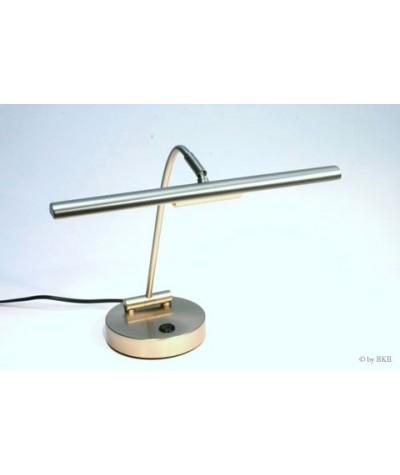 Lampe halogène pour piano , nickel mat, 2 flammes