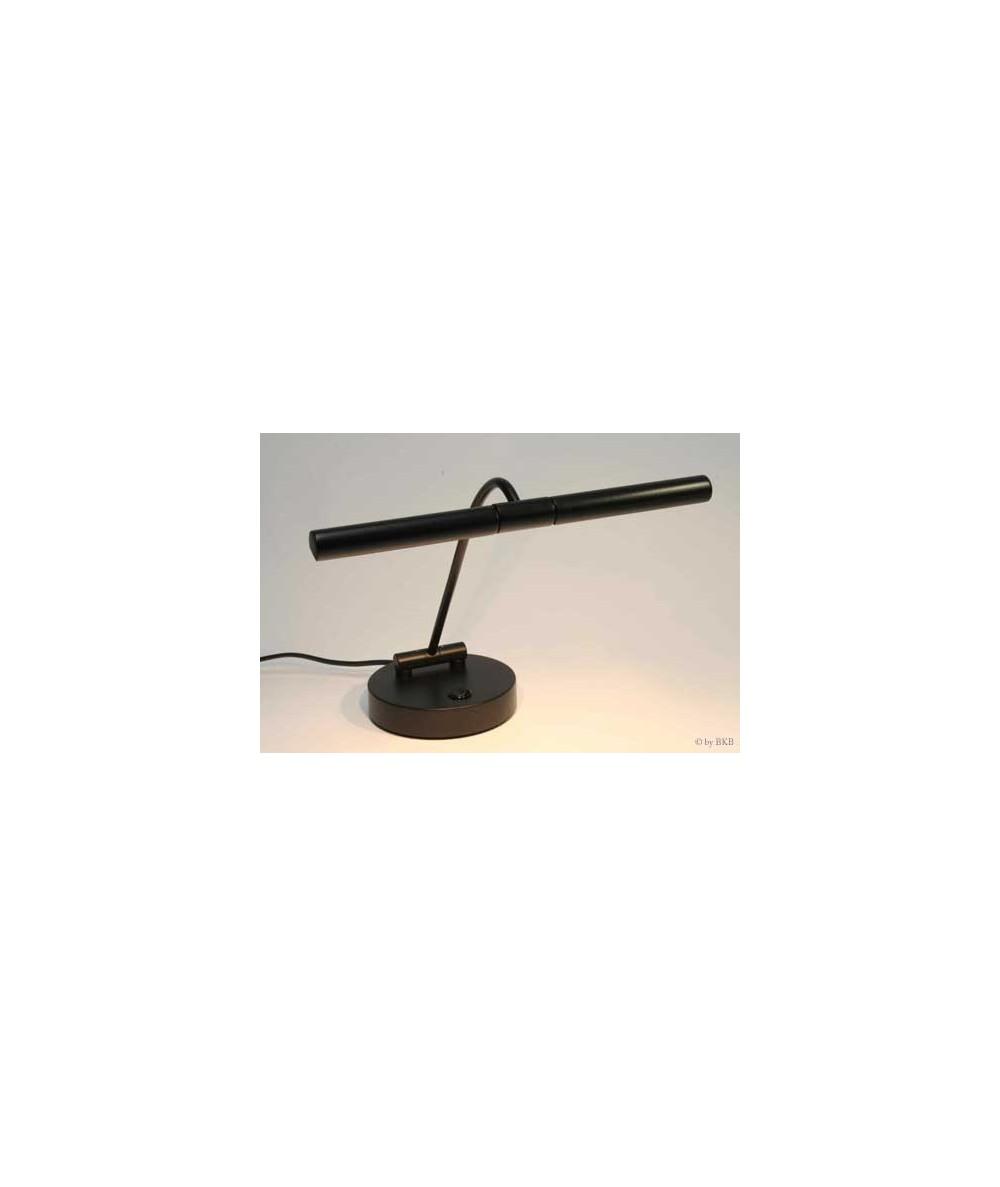 Lampe halogène pour piano, noir mat, 2 flammes