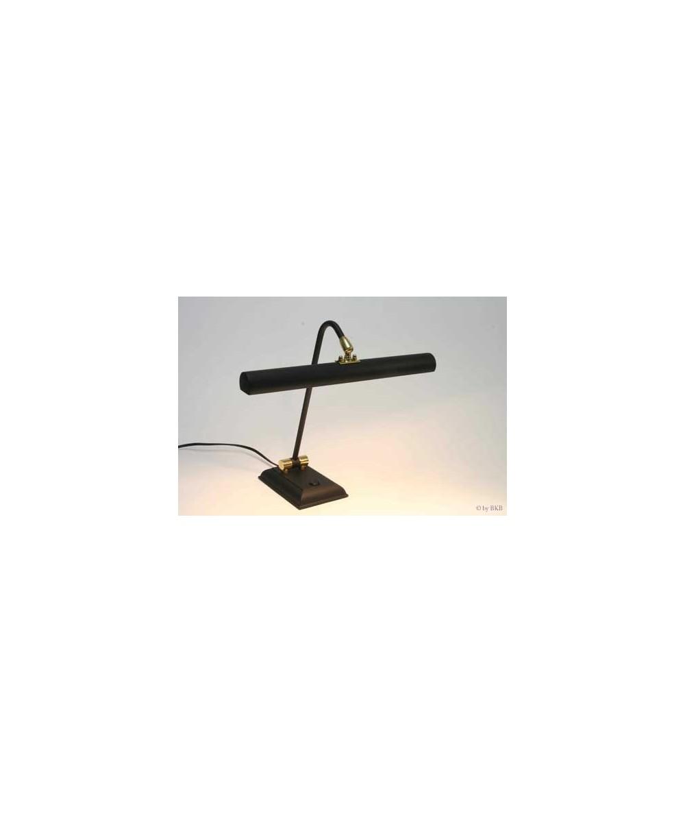 Lampe halogène pour piano noir mat, charnières laiton