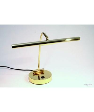 Lampe halogène pour piano droit, laiton poli, 2 flammes