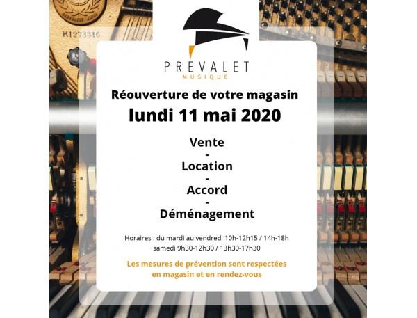 Lundi 11 Mai réouverture de votre magasin Prévalet !